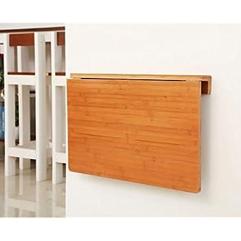 Amazon.com: ZCJB Mesa plegable de bambú para mesa de comedor ...