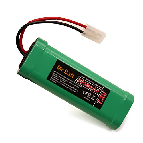 7.2V RC Battery Pack with KET Connector for RC Cars Boats Trucks Drones Helicopters, NiMh 3000mAh