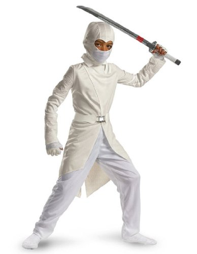 [Storm Shadow Deluxe - Size: Child L(10-12)] (White Ninja Costumes For Kids)