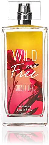 Wild and Free Hydrating Hair & Body Fragrance - Sunset Haze - Fruity Perfume Spray - Black Currant, Strawberry, Raspberry, Jasmine, Lily of the Valley, Freesia, Rose, Musk, Vanilla, Caramel - 3.4 oz
