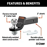 CURT 45036 Hitch Ball Mount with 2-Inch Trailer