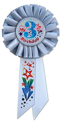 Beistle My 3rd Birthday Rosette, 3¼