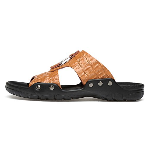 Dimensioni di da Morbidi Spiaggia Cricket da Marrone e Sandali da Scarpe Traspiranti Grandi Uomo Pantofole 0TXqX
