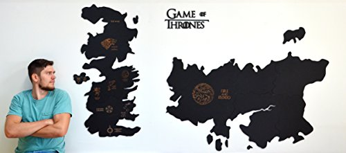 Game Of Thrones Wall Map Wooden Engraved Westeros Map Seven Kingdoms House Poster Wall Art Home Housewarming Gift For Boyfriend Husband