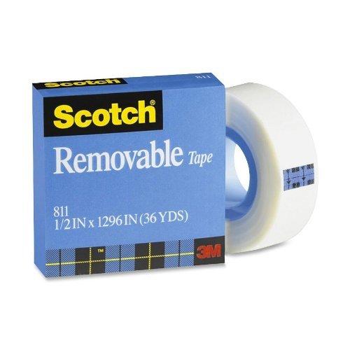 3/M Scotch Ruban adh/ésif Amovible t9631811 0,5/x 36/Yards 811/
