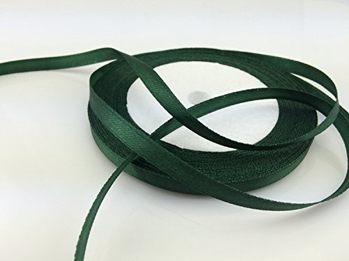 Forest Green Ribbon - Solid Color Satin Ribbon 1/4