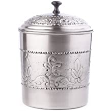 Old Dutch Victoria Cookie Jar, 7 by 9-1/2-Inch, Antique Pewter