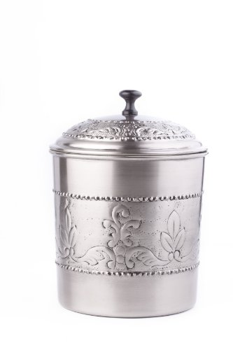 Old Dutch Victoria Cookie Jar, 7 by 9-1/2-Inch, Antique Pewter (Pewter Lid)