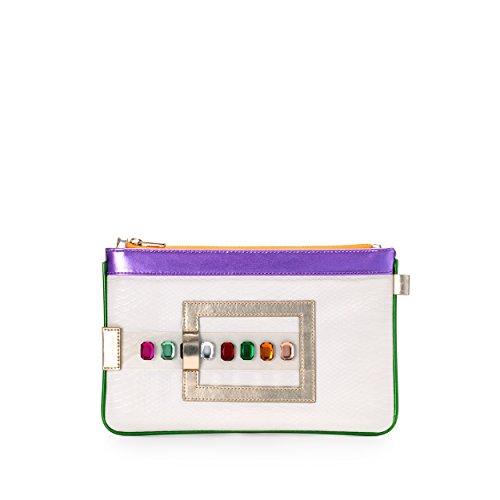 GEMINI Luxury Vegan Bag, Clutch, Purse, Wallet. Multicolored Gems by FruitenVeg