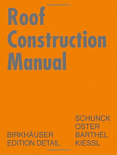 Roof Construction Manual, English Edition by Birkhäuser Architecture