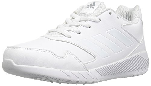 (adidas Kids' Altarun Running Shoe, White/White/Mid Grey, 4 Medium US Little)