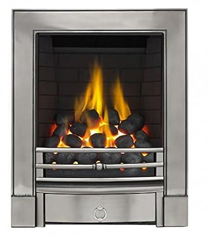 Polished Focal Point Fires FPFAZ00605 Sandhurst Full Depth Radiant Gas Fire-Cast