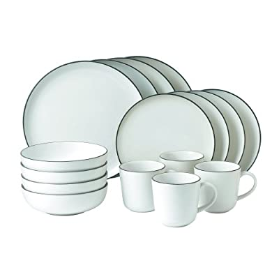 """Royal Doulton 1815 Bright Colors (Mixed Patterns) Dinner Plates 11.4"""" Set of 4 - The Gordon Ramsay Bread Street 16- Piece White Dinnerware Set includes 4 dinner plates, salad plates, all-purpose bowls and mugs Designed by chef Gordon Ramsay and manufactured by Royal Doulton A modern casual design that works with any decor - kitchen-tabletop, kitchen-dining-room, dinnerware-sets - 41XYtfHGltL. SS400  -"""
