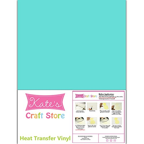 3 Sheets of 12 x 15 Stretch Heat Transfer Vinyl Iron-On (Sea Glass)