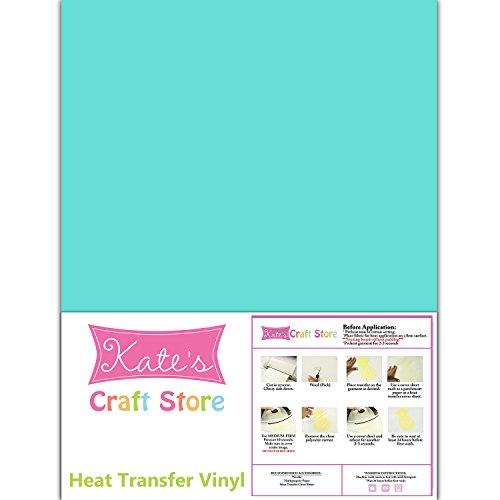 3 Sheets of 12 x 15 Stretch Heat Transfer Vinyl Iron-On (Sea Glass)