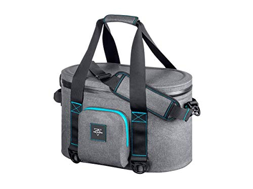(Monoprice Emperor Flip Portable Soft Cooler - 20 Can - Gray | Waterproof Exterior, IPX7-Rated Zippers Ideal for Camping, Fishing, BBQ - Pure Outdoor Collection)