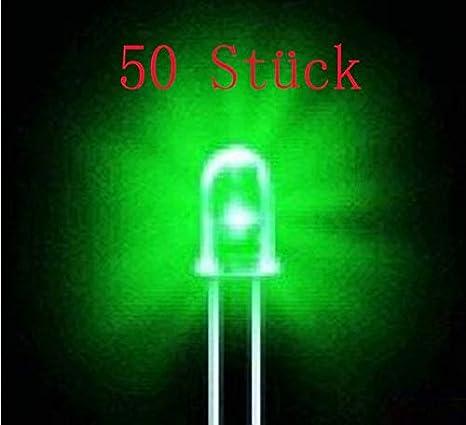 lila//sieben Farben 50 St/ück LED-Leuchtdiode 5mm superhellen runden Kopf direkt in die Lampe wei?es Haar rot//gelb//blau//gr/ün//wei?