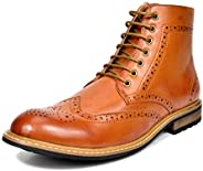 BRUNO MARC NEW YORK Men's Dress Ankle Motorcycle Boots Leather Lined Derby Oxf