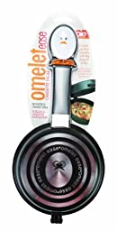 Joie Whisky Egg Non-Stick Double Sided Omelette Pan, Silver, Small