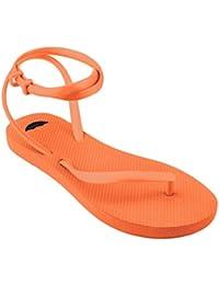 Women's Crush Orange Flip Flop Sandals - Unique, Stylish, Comfortable Flip-Flop That Gives Back To Women's Education