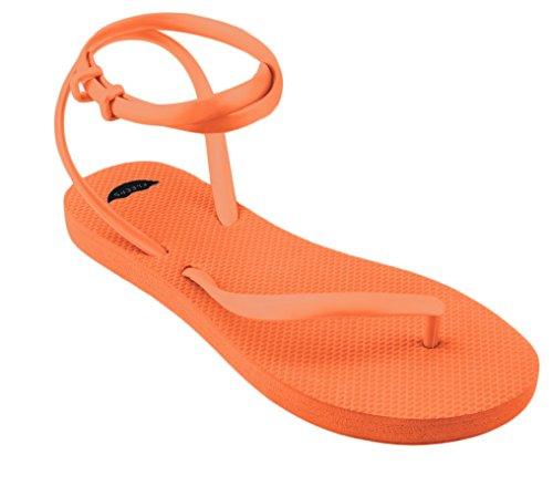 Orange Thong Sandals (FLEEPS Women's Crush Orange Sandals 9)