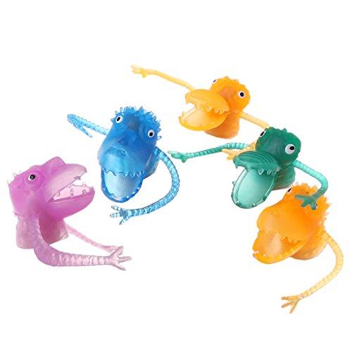 SprinZ 10Pcs/Set Multi-Color Finger Puppets PVC Plastic Dinosaur Finger Mini Kids Toys