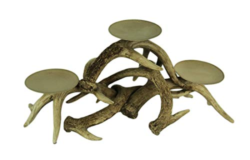 Audrey's Rustic Triple Antler Candelabra 3 Pillar or Votive Candle Holder