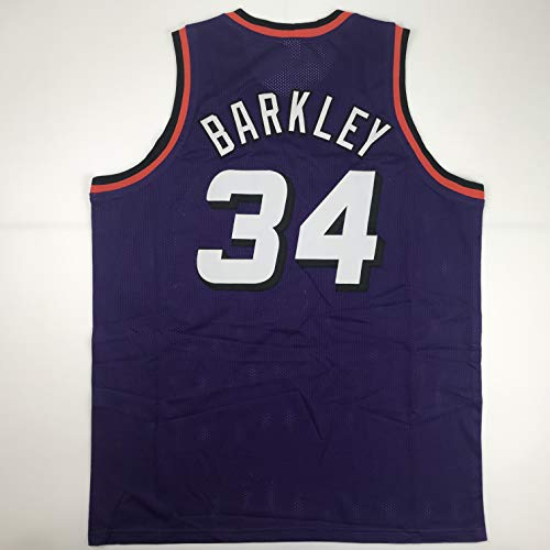 Unsigned Charles Barkley Phoenix Purple Custom Stitched Basketball Jersey Size Men