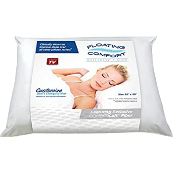 The Water Pillow by Mediflow Floating Comfort Original Pillow - The first and original water pillow, clinically proven to reduce neck pain and improve sleep.