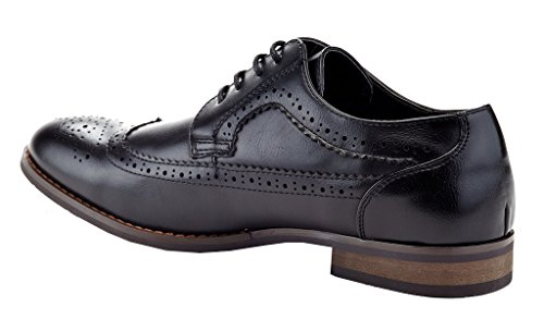 Franco Vanucci Mens Alfonso Wingtip Oxford Shoes Black BbwzRDwVH