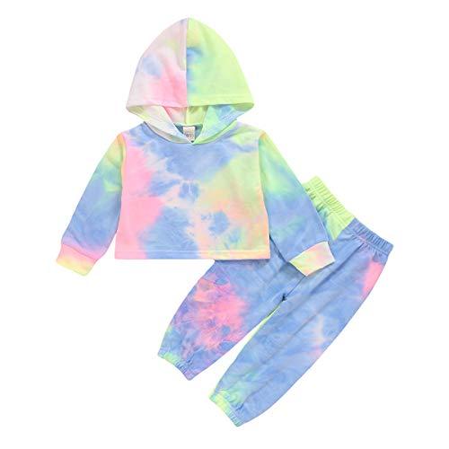 1-6 Jaar Jongen Meisje Tie-Dye Hoodies Set Peuter Chique Sweatshirt Broek Casual Lente Herfst Trainingspak