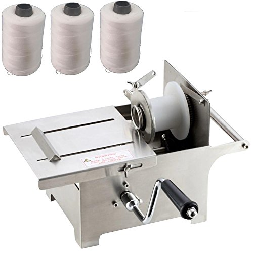 Generic 0-42mm Hand Rolling Salami Sausage Stuffer Sausage Tying Knotting Machine with 3pcs Twine by Generic