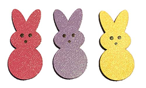 Roeda Brighten Your Life 13854m Marshmallow Peep Bunny Candies Magnets Set of 3 Assorted Made in USA