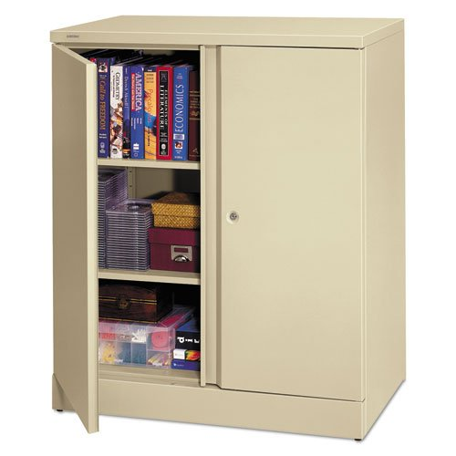 HON C184236L 36 by 18 by 42-3/4-Inch 2 Shelves Easy-to-Assemble Cabinet, Putty by basyx by HON