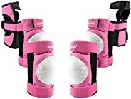 LoudSung Protection Gear Knee Pads Elbow Pads Wrist Guards Set for Kids Youth Adults Bicycling Cycling Bike Sk