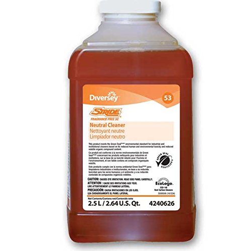 Diversey Stride Fragrance Free Neutral Cleanr (4240626), 2.5L J-Fill by Diversey