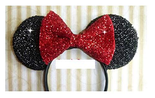 Disney Minnie Mouse Ears Halloween Headband - Red Bow -