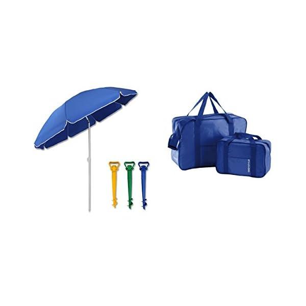 kit spiaggia ombrellone ponza + picchetto + set 2 borse termiche giostyle Fiesta 6/25 1 spesavip