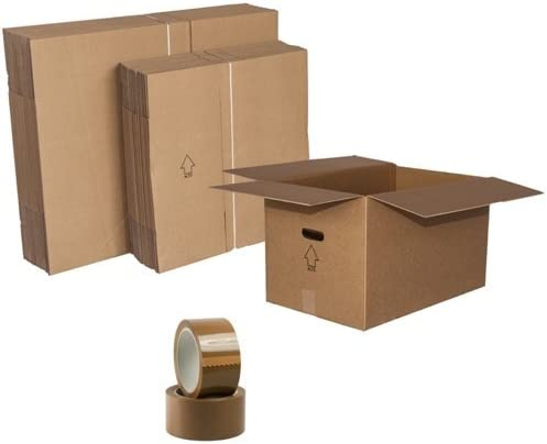15 scatole Libri-fragili cm 40x30x35,2 Nastri Adesivi Omaggio 60x40x35 Scatole per Trasloco Cartone Doppia Onda Pz:30 :15 scatole Biancheria cm