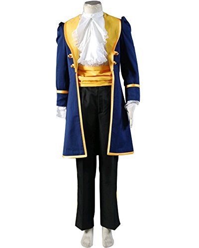 (SIDNOR Beauty and The Beast Prince Adam Cosplay Costume Jacket Pants Uniform Outfit)
