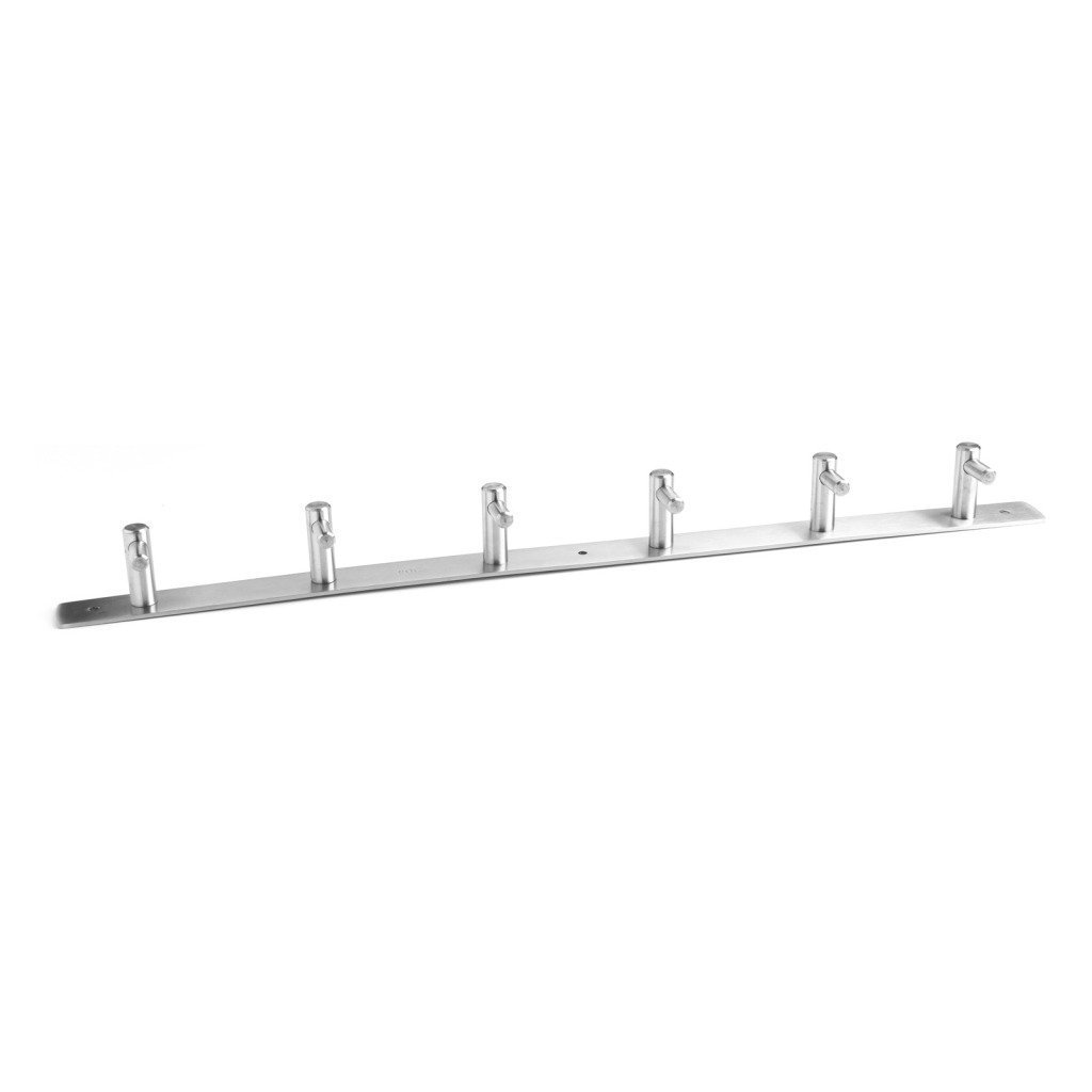 Stainless Steel Robe Coat Hat Hook 3/4/5/6/8 Wall Mounted Hooks Hanger Rack Max Load Up to 10kg (5 Hook) ColdShine