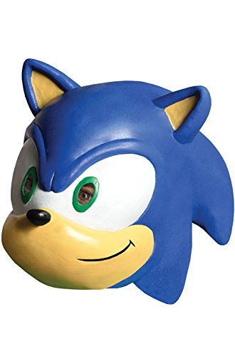 [Sonic The Hedgehog Sonic 3/4 Vinyl Mask] (Sonic The Hedgehog Costumes Child)