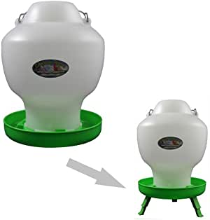 9 Litre Green and White Mushroom Drinker with Handle
