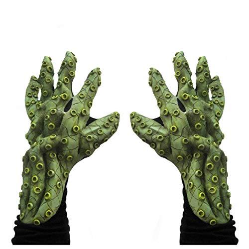 Zagone Studios Green Octopus Tentacles Sea Monster Hands Costume Gloves]()