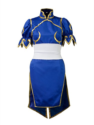 Cosfun Top Street Fighter Chun Li Cosplay Costume