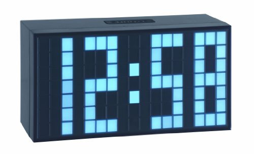 TFA 98.1082.02 Reloj Despertador Digital LED Azul Claro de diseño