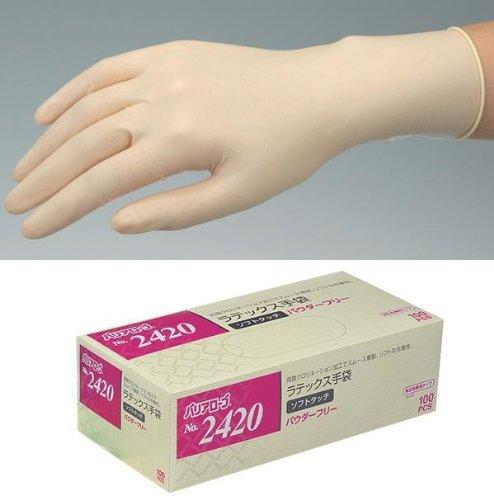 バリアローブ ラテックス手袋 ソフトタッチPF(左右兼用) 100枚×20箱 NO.2420   M B00HF0II7U