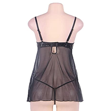 GoeSecret Ropa Interior Mujer Sexy Erotica Women M-7XL Sexy Porno Plus Size Erotic Doll R80094 Thin Sexy Women Lingeries with Leather Bra M at Amazon ...