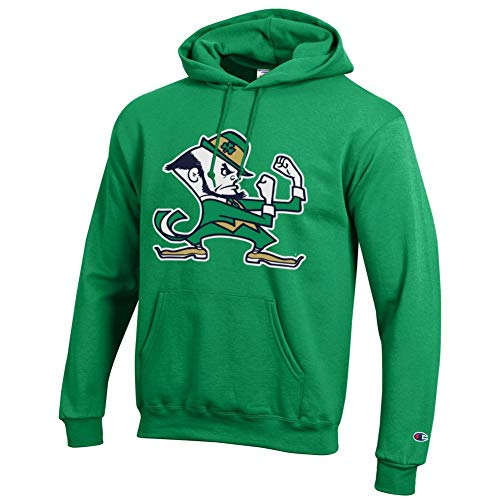 Elite Fan Shop Notre Dame Fighting Irish Hoodie Sweatshirt Leprechaun Green - L