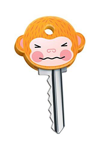 Un lot de 6 couvre-clés en caoutchouc en forme de tête de singe pour avoir le plus craquant des trousseaux - Marque : Fred